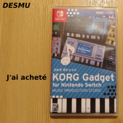 J'ai acheté KORG Gadget for Nintendo Switch